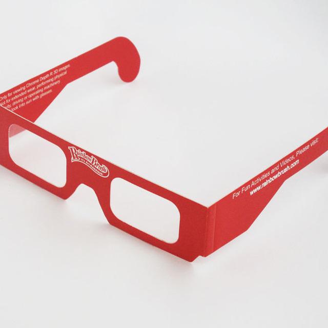 2014 kids frames trendy paper anaglyph oculos