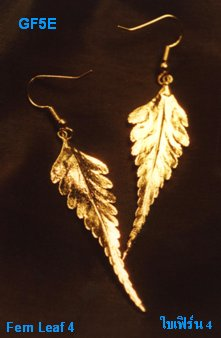 Real Leafs 24k Gold Plated Earring