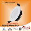 SAA approved white finish dimmable led downlight 12 watt