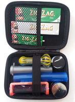 Traveller Smoking Kit- Case Aluminum Grinder, Rolling Machine & Papers & More