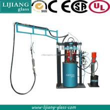 Two component silicone sealant spreading machine for insulating glass