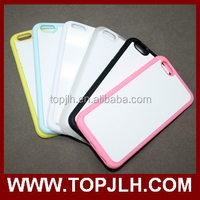 TPU sublimation heat transfer DIY blank cell phone case for Iphone 6+