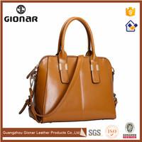 Portable Tote Intalian Tan Vintage Leather Big Newest Pictures Fashion Brand Lady Handbag on Sale