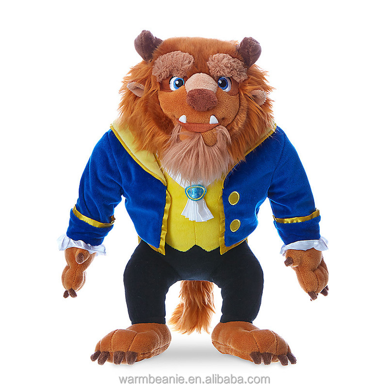 Promotional high quality Suntown custom plush stuffed hot cartoon character toys, lifelike dressed Beast Prince toys for kids