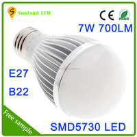 High Brightness Competitive Price 7W LED Bulb E27 Led Bulb Lighting high power fluorescent light bulb outdoor