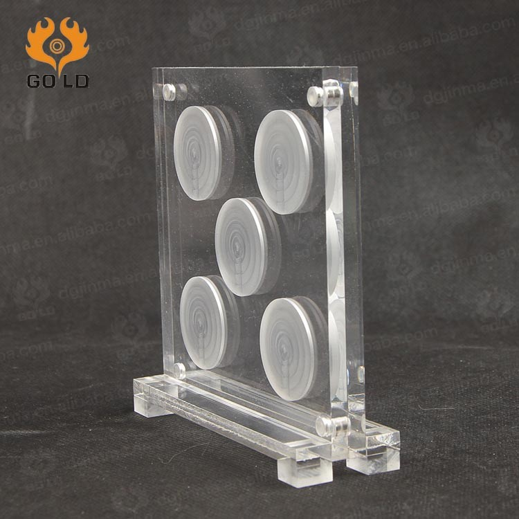 clear acrylic Coin box acrylic coin display case