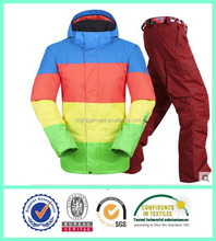 2015 Fashion design Function Outlet Ski Suit Waterproof Breathable men Snow Jacket and Pant
