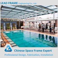 Best quality light steel framing building for swimming pool cover