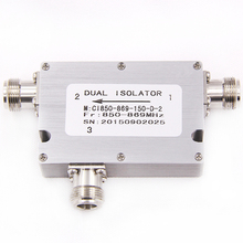 hot sale low pim high isolation din female 850-869mhz coaxial rf circulator isolator