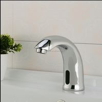 Single Cold cheap sensor faucet Automatic Hands Touch Free Bathroom Sensor Faucet, Chrome Finish