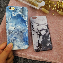 High Quality Marble Hard Cell Phone Case for Iphone 7 Blue Black Stone IMD Design Cover for Iphone 7 Plus Case