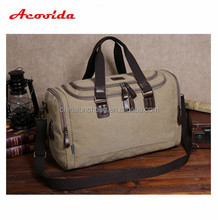 High quality canvas man travel colth bag