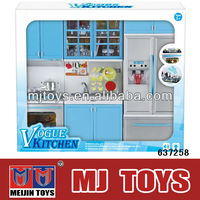 Factory offer kids play toy plastic big toy kitchen set with light