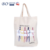 BSCI directly sale character cartoon canvas eco shopping bag tote bags with custom printed logo