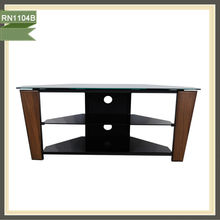 back board glass tv stand pine corner luxury modern wood tv stand