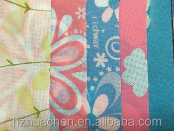 PP nonwoven printed table cloth laminated made in china