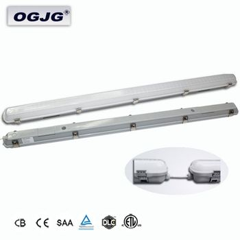 Factory Wholesale 3000k 4000k 5000k 6000k Led Vapor Tight Fixture Outdoor Viaduct Motion Sensor IP67 dali dimming Led tube Light