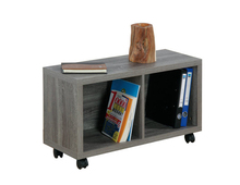 Office wooden storage cabinet with wheels