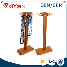 wooden table top diy t-bar necklace display holder for jewel shop diy necklace display stand