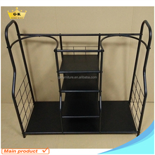Double Golf bag Organizer Stand With 5 Shelves golf club display rack