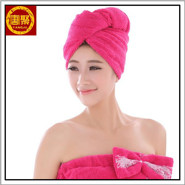 Professional Salon Towel Microfiber Hair Towel In Hairdress With Buttons
