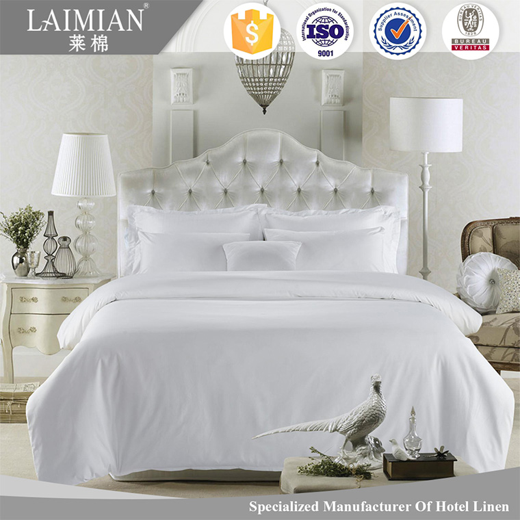 100% egytian cotton bed linen plain weave hotel bedding sets