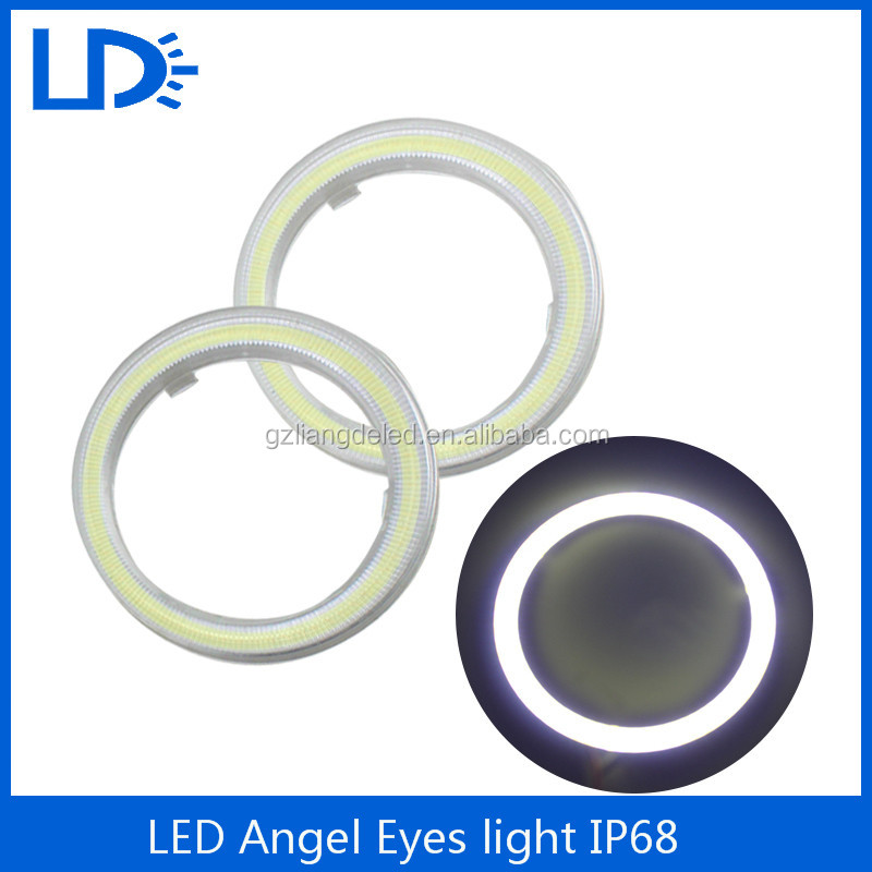 Waterproof COB halo rings LED Angel Eyes light with Plastic Cover