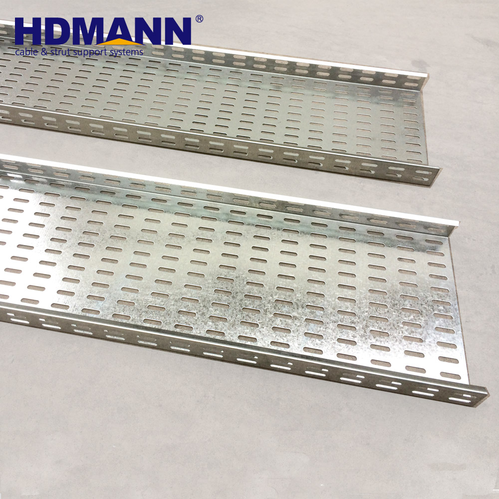 "ISO CE NEMA Certificated Perforated Metal 24"" Cable Tray Zone 4 Supports Aluminum"