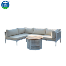 New design outdoor corner Mesh Aluminum Frame Sofa