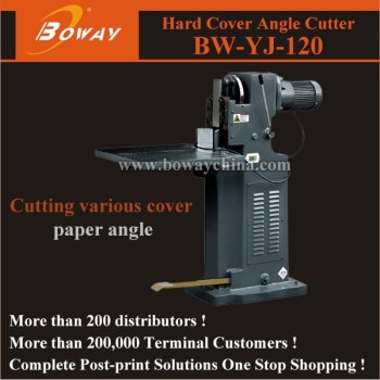 80mm paper height book Hard cover Angle Cutter Machine YJ-120