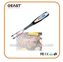 long digital bbq fork with thermometer