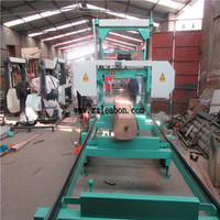 Diesel engine portable horizontal band sawmill with CE