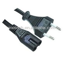 2 pins Power cords VDE AC Power Cords with IEC Connector C7