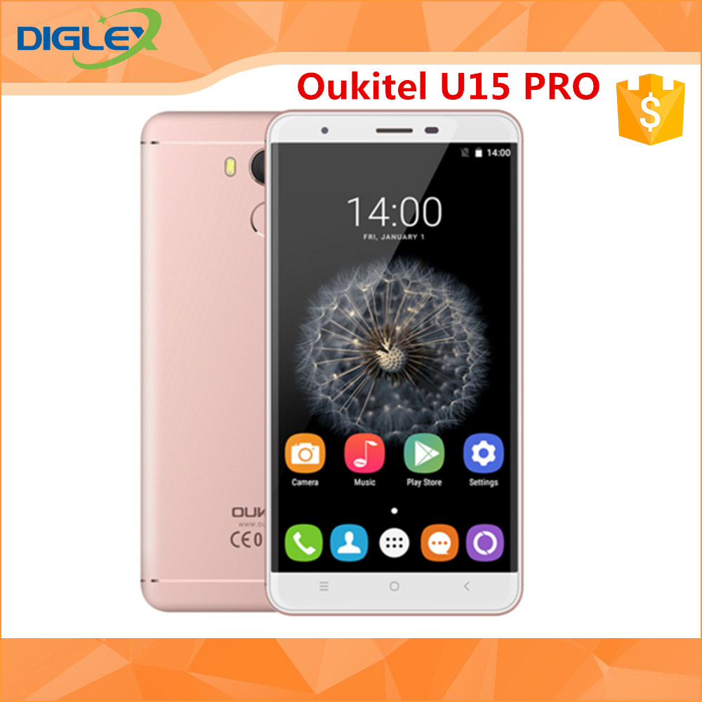 Oukitel U15 Pro MTK6753 Octa Core 5.5 Inch Mobile Phone Android 6.0 3000 mAh Cell Phone
