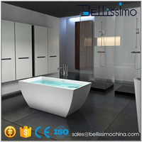 Low price square acrylic simple factory bathtub BS-8641B