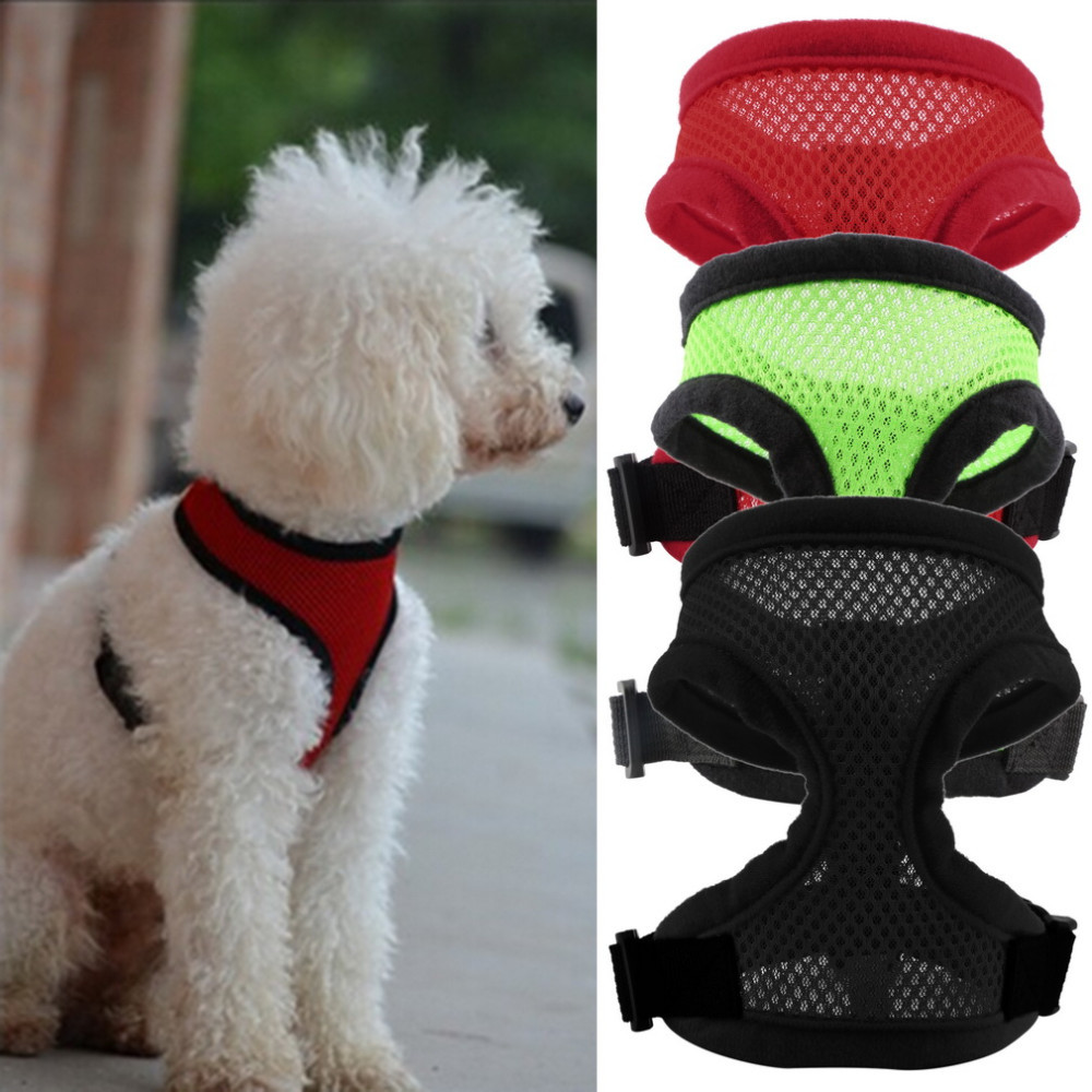 3 Colors Nylon Pet Mesh <strong>dog</strong> Harness Strap Vest Collar For Small Medium-sized <strong>Dog</strong> leads Puppy Comfort Harness