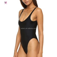 One Piece Swimwear Women's Retro Inspired High Cut Low Back Bathing Suits