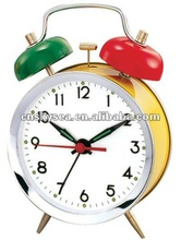 3.5 inches metal case mechanical alarm clock, double bell