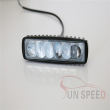 High performance china 4x4 accessories 18w work light bar 4D lens led spot driving light for motorcycle