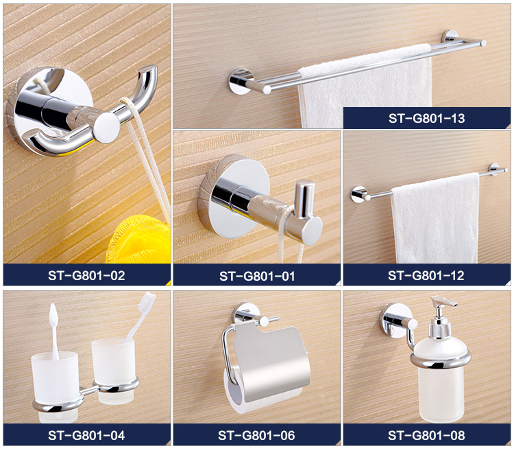 big discount on dec wholesale wall mounted chrome plating 5pcs bathroom accessories