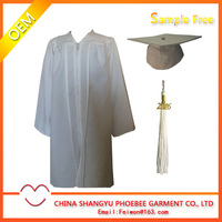 matte high quality children graduation gown for kids