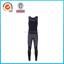Customized Black Seamless Sleeveless Vest Long Pants Neoprene Surfing Wetsuits