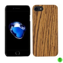 Wooden Mobile Phone Case for iPhone 7,Hard PC Hybrid Snap Handmade Natural Wood Cell Phone Cover for iPhone7
