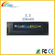 Monochrome lcd display module 3.2 inch oled diaplay with white/yellow/blue color