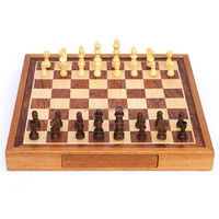 Mini 2 in 1 Chess&Backgammon Game Pieces Travel Game Set