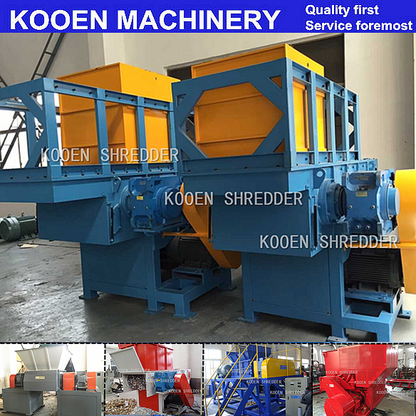 KOOEN Single shaft shredder/shredding machine for waste plastic