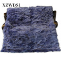 CX-D-117 Customized Heavy Genuine Fox Fur Blanket For Winter
