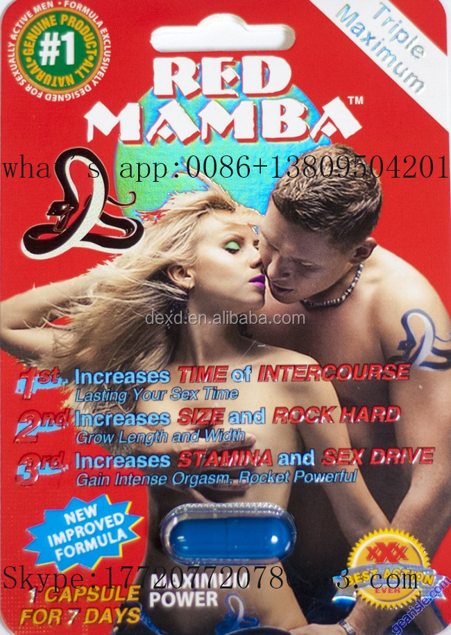 Triple Maximum red mamba Male sex Enhancement Pills Packaging, Blister Card for Sexual Pills