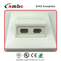 China suppliers 1/2/4 Port Australia wall plate cat 6 rj45 surface mount box