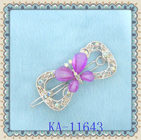 fashion stone hair clips of resin stone and rhinestone